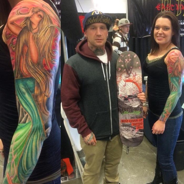 Deelnemers tattoo expo for Kelowna tattoo show
